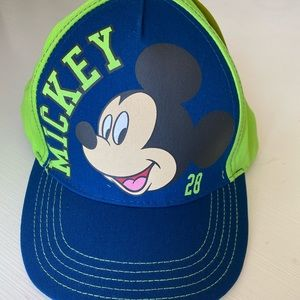 Mickey Mouse snap back baseball cap hat NWT